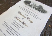 Real parchment wedding invitation scrolls