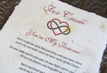 Real parchment romantic scrolls