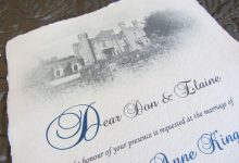 Real Parchment Scroll Invitations