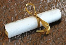 Real parchment scrolls from Santa Claus